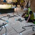 Installation of Downton Mosaic